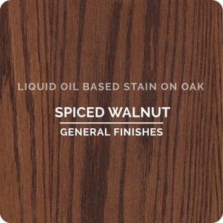 spiced walnut on oak