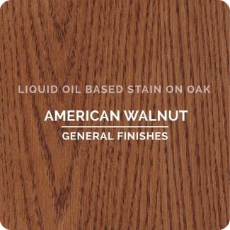 american walnut on oak