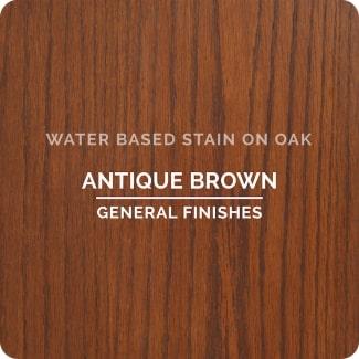 antique brown on oak