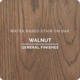 walnut on oak