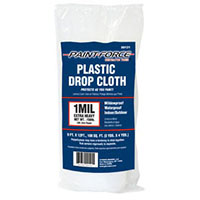 PAINT-FORCE PLASTIC DROP CLOTH